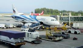 Internationaler Flughafen auf Phuket Stockbild