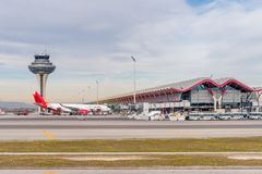 Internationaler Flughafen Barajas, Madrid Stockbild