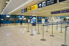 Internationaler Flughafen Fiumicino lizenzfreies stockbild