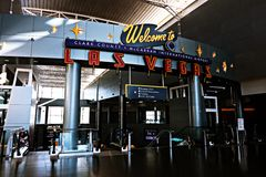 Internationaler Flughafen McCarran in Las Vegas Nanovolt Stockbild