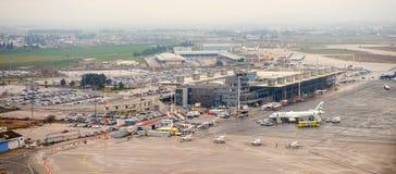 Internationaler Flughafen Saloniki Stockfoto