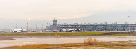 Internationaler Flughafen Saloniki Stockfotos
