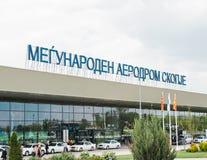 Internationaler Flughafen Skopje stockbilder
