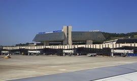 Internationaler Flughafen Sochis in Adler-Bezirk der Urlaubsstadt von Sochi, auf der Küste des Schwarzen Meers im Bundes Stockfotografie