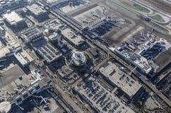 Internationaler Flughafen-Vogelperspektive Los Angeless Lizenzfreie Stockfotografie
