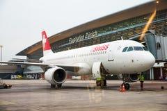 . Internationaler Flughafen Zürichs Lizenzfreies Stockbild