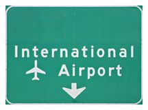 Internationaler Flughafen-Zeichen Lizenzfreies Stockfoto