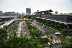 Internationaler Flughafen-Zugang MRT-Station Stockfotografie