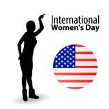 Internationaler Frauen ` s Tag feminismus amerikanisch lizenzfreie abbildung