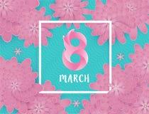 Internationaler Frauen ` s Tag am 8. März Lizenzfreie Stockbilder