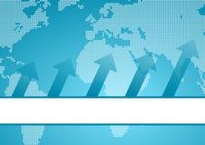 Internationaler Geschäftshintergrund Lizenzfreies Stockfoto