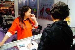 Internationaler Goldschmuck Shenzhens angemessen Lizenzfreie Stockfotografie