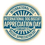 Internationaler Hundekuchen-Anerkennungs-Tag Stockbild