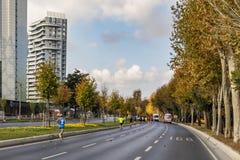 40. internationaler Istanbul-Marathon und -athleten stockbild