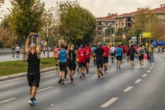 40. internationaler Istanbul-Marathon und -athleten lizenzfreies stockfoto