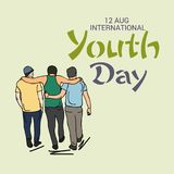 Internationaler Jugend-Tag Lizenzfreie Abbildung