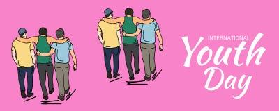 Internationaler Jugend-Tag Stock Abbildung