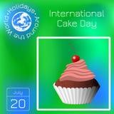 Internationaler Kuchen-Tag Capcake, Nachtisch, Gebäck, Kirsche Reihenkalender Feiertage auf der ganzen Welt Ereignis jedes Tages  Stockfotos