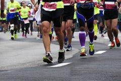 Internationaler Marathon 2015 in Shanghai Lizenzfreie Stockbilder