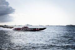 Internationaler Meister 2018 Superboat stockbild