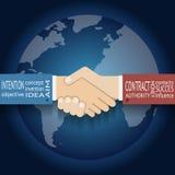 Internationaler Partnerschafts-Ikonen-Geschäftsmann Lizenzfreies Stockbild