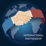 Internationaler Partnerschafts-Ikonen-Geschäftsmann Stockfotos