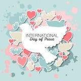 Internationaler Tag der Friedensvektorillustration Stockbild