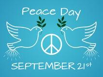 Internationaler Tag des Friedens Weinlese und Retro- typografisches Design Lizenzfreie Stockfotografie