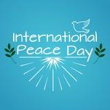 Internationaler Tag des Friedens Weinlese und Retro- typografisches Design Lizenzfreie Stockfotos