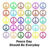 Internationaler Tag des Friedensminimalen Konzeptes Stockfoto