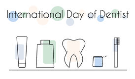 Internationaler Tag des Zahnarztes Lizenzfreies Stockfoto