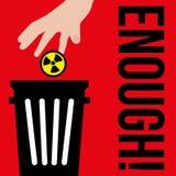 Internationaler Tag für die Beseitigung von Kernwaffen vector Sozialwettbewerb Stockbild
