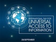 Internationaler Tag für universellen Zugang zu den Informationen lizenzfreie stockfotografie