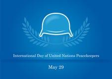 Internationaler Tag von Friedenstruppen der Vereinten Nationen Stockfotos