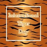 Internationaler Tiger Day Lizenzfreies Stockfoto