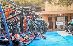 Internationaler Triathlon 2018 Jepara lizenzfreie stockfotos