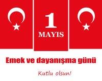 Internationaler Werktag am 1. Mai Das Türkische: Arbeits- und solidaritätstag, Stockfoto