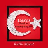 Internationaler Werktag am 1. Mai Das Türkische: Arbeits- und solidaritätstag, Stockbilder