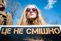 Internationaler Zirkustag Aktivisten protestiert gegen Ausnutzung die Tiere lizenzfreie stockbilder