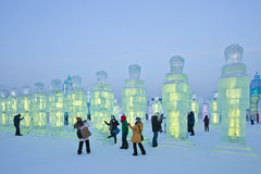 Internationales Eis und Schnee-Skulpturfestival, Harbin, China Stockfotos