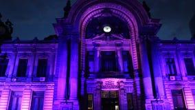 Internationales Festival des Lichtes in Bukarest 2015, stock video footage