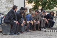 Internationales Festival von Straßen-Theatern ULICA in Cracow_Kamchatka, Spanien lizenzfreies stockbild