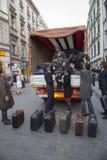Internationales Festival von Straßen-Theatern ULICA in Cracow_Kamchatka, Spanien Lizenzfreie Stockfotografie