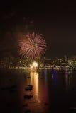 Internationales Feuerwerks-Festival Pattayas stockbilder