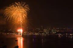 Internationales Feuerwerks-Festival Pattayas stockbild