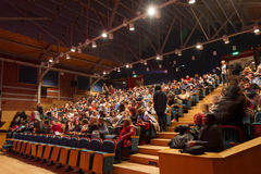 55. internationales Film-Festival Saloniki an Olympions-Kino Stockbild