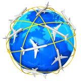 Internationales Flugzeugverkehrkonzept Lizenzfreie Stockfotografie