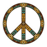 Internationales Friedenssymbol lokalisiert auf Weiß Friedenskonzept Lizenzfreie Stockfotos