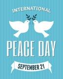 Internationales Friedenstagesplakat Lizenzfreie Stockfotos