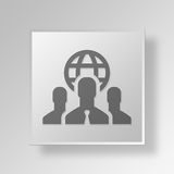 internationales Geschäft 3D Knopf-Ikonen-Konzept Lizenzfreie Stockfotos